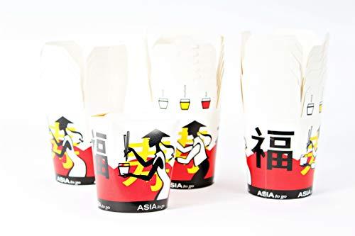 greehome Nudel Box 15 STK. 500 ml Pappe Asia Pasta Asiatische Schachtel Verpackung to go Snackbox