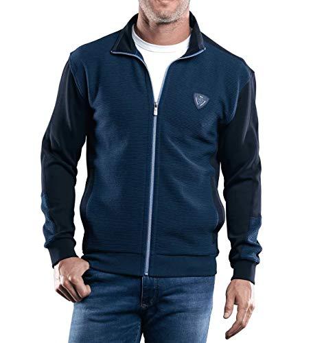 engbers Herren Sportive Sweatjacke, 29229, Blau in Größe XL