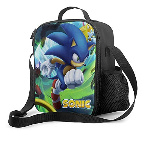 Cartoon Insulated Lunch Bag Game Lunch Box with Adjustable Shoulder Strap Leakproof Cooler Lunch Tote Bag for Adults Youth Picnic Travel K2