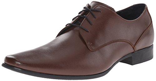 Calvin Klein Men's Brodie Leather Oxford, Medium Brown, 7.5 M US