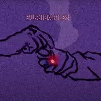 burning piles