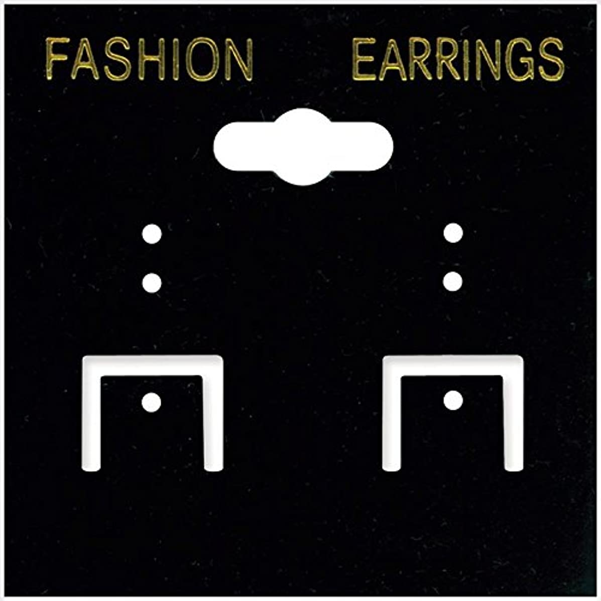 Darice Earring Cards, 2 by 2-Inch, PVC Black, 100/Pack