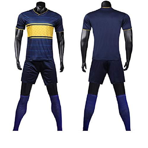 Herren Fußball Fan Shirts Boca Juniors Erwachsene Kinder Kurzarm, T-Shirt Sports Shorts Blue-L