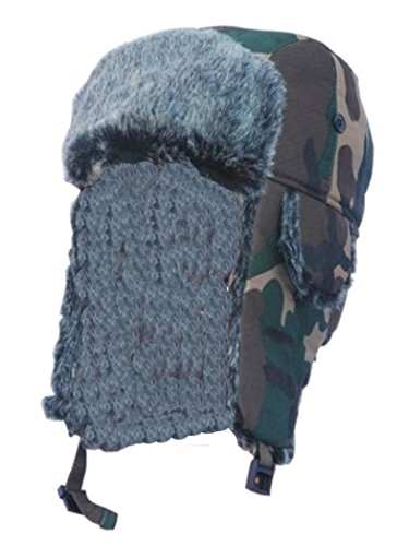 Bonnet d'hiver motif camouflage multicolore