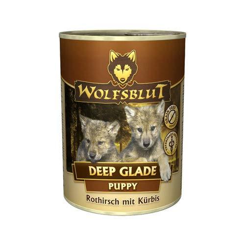 Wolfsblut | Deep Glade Puppy | 6 x 395 g | Rothirsch und Wasserbüffel | Nassfutter | Hundefutter | Getreidefrei
