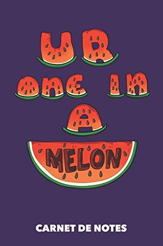 Carnet de Notes: Vous êtes un sur un melon A5 pointillé / grille de points - 120 pages pour les gens à la mode (violet)