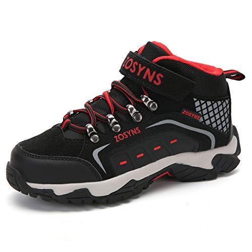 Scarpe da Escursionismo Bambino Scarpe da Trekking Ragazzo Scarpe Outdoor Multisport Bambini Stivali da Escursionismo Calzature da Escursionismo Ragazze Nero 35