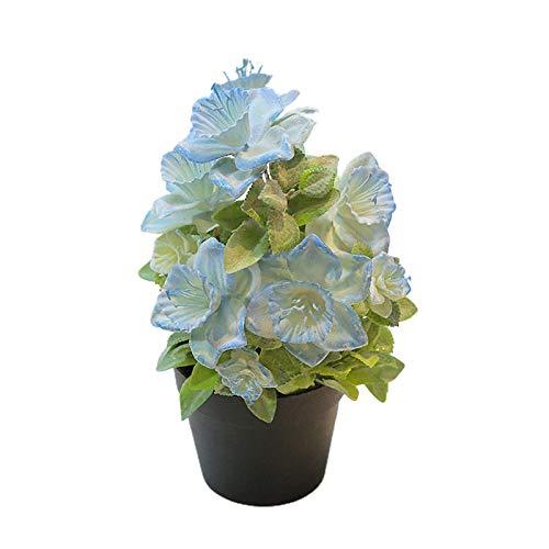 JENPECH Artificial Plant DIY Craft Begonia Plant Potted Bonsai Flowers Fake Outdoor UV Resistant Plants - Farmhouse Shrubs for Hanging Planter Garden Cemetery Grave Kitchen Decor Light Blue