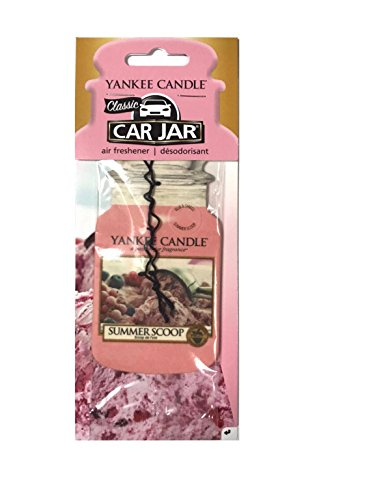 YANKEE CANDLE Summer Scoop Classic Car Jar, Karton, Pink, M