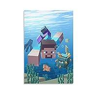 Minecraft キャンバス アート ポスターとウォール アート イメージ プリント モダンな家の寝室のインテリア ポスター 12×18inch(30×45cm)