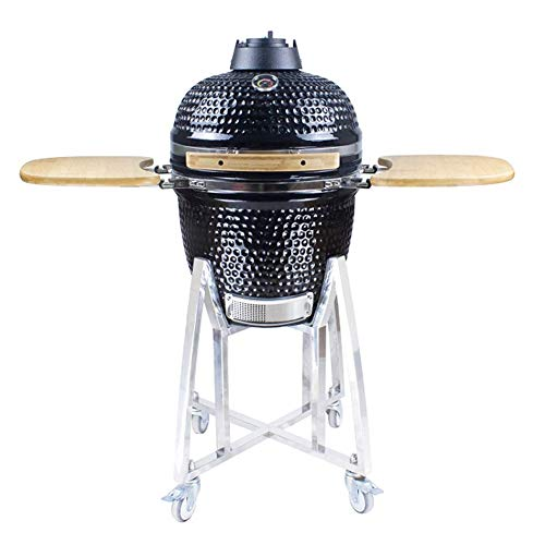 """23.5"""" BBQ-BITS KAMADO BBQ GRILL SMOKER CERAMIC EGG CHARCOAL COOKING OVEN OUTDOOR"""