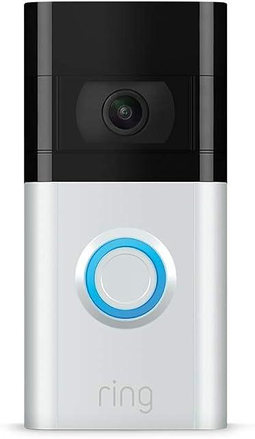 Nuevo Ring Video Doorbell 3 | Vídeo HD detección de movimiento avanzada e instalación fácil
