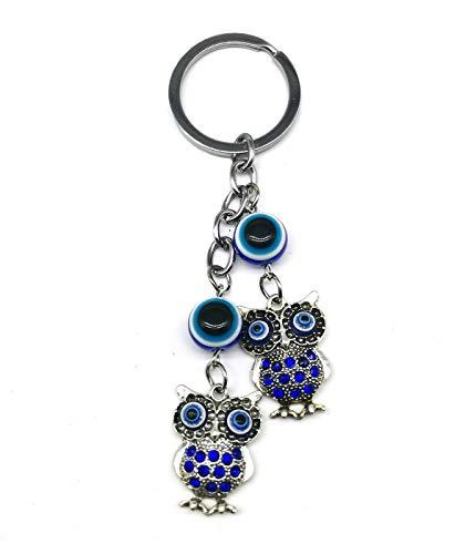 Blauer böser Blick Schlüsselanhänger zum Aufhängen Auto Rückspiegel Eule Wohnaccessoires Dekor Amulett Anhänger für Glück und Schutz