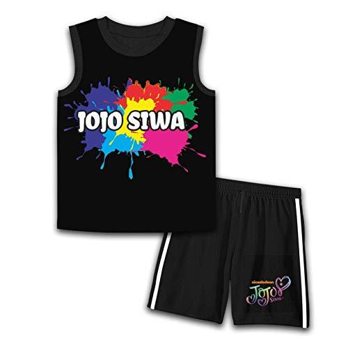 Lbjams23 JoJo Si-wa bezrękawnik top i szorty zestaw odzieży dziecięcej strój dla chłopców Gifrls koszulka bez rękawów krótki zestaw