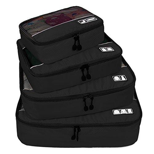 BAGSMART Viaggio Imballaggio Cubi Set Confezione Cubi da Viaggio 4pz - Organizzatori Durevoli da Viaggio