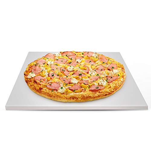 GasSaf Pizza Stone for Oven and Grill - Baking Stones for Bread, 12 x 15 Inch Square Heavy Duty Ceramic Pizza Cooking Stone for BBQ and Grill, Making Pizza, Bread, Cookie and More