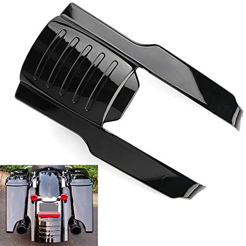 Motorcycle 9' Gloss Black ABS Rear Fender Extension Stretched Bag Filler For Harley Touring Electra Road Street Glide Road King 1996-2008