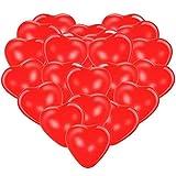 Premium Herzluftballons Rot 50 Stück. Luftballon Herzen, XL Größe. Die Ballons dienen als als Deko für Geburtstag, Party usw. Die Ballon Herzen sind für Luft oder Helium geeignet