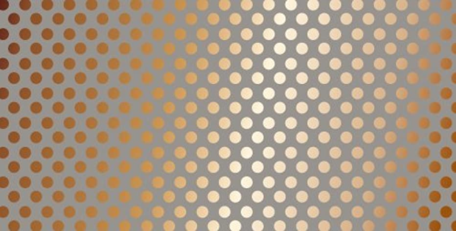 American Crafts 12 x 24 Inch Grey Kraft Dots Copper Foil Specialty Paper by Die Cuts with a View