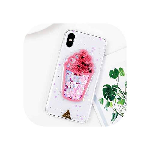 ★️Función: resistente al agua, a los dientes, antigolpes, Tipo: funda protectora para teléfono, diseño: brillante, bonito, estampado, transparente. ★️Características: bonita funda para teléfono de helado de verano 3D, material: TPU suave, compatible ...