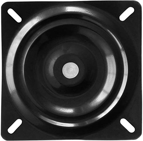 """MySit 6.25"""" Bar Stool Swivel Plate Replacement, Square Swivel Mechanism for Recliner Chair or Furniture - Ball Bearing Swivel Boat Seat (SwivelPlate_6.25)"""