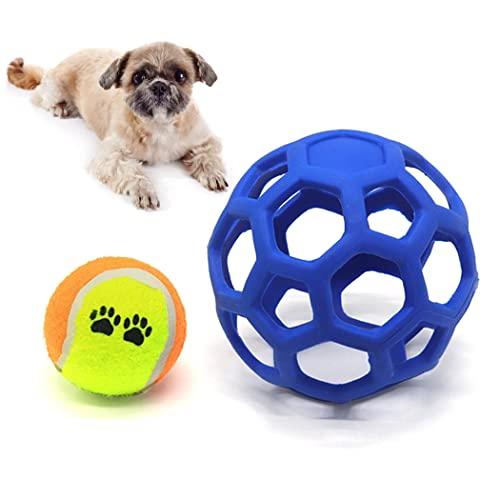 Anjetan Pequeño Medio Grande Morder Puzzle Puzzle Ball Elástico Elástico Hueco Portátil Portátil Portátil Interactivo Juguete con Pelota De Tenis
