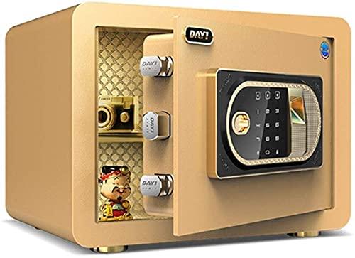 XiYou Caja Fuerte de Seguridad, hogar electrónico con Huella Dactilar de Caja de Seguridad Completamente de Acero Mediana para el hogar