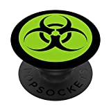 Toxic Green Biohazard Symbol Logo Icon Emblem Biohazard PopSockets PopGrip: Swappable Grip for Phones & Tablets
