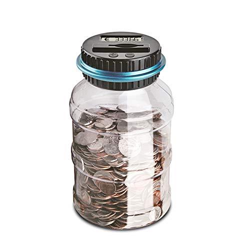 OurLeeme LCD Contador de Monedas Cuenta electrónico Digital para Contar Monedas para Ahorrar Dinero de la Caja del Tarro Monedas Caja para el Euro del Dinero