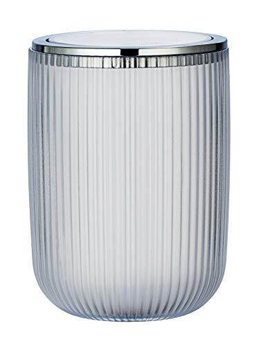 WENKO Schwingdeckeleimer Agropoli S Weiß - Kosmetikeimer mit Schwingdeckel, Badeimer Fassungsvermögen: 2 l, Kunststoff, 14.5 x 20 x 14.5 cm, Weiß
