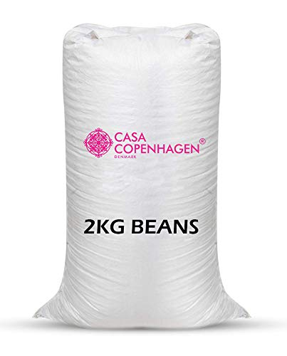 Casa Copenhagen Premium 2 Kg Bean Bag Refill/Filler - White Owl (2 kg Beans - 1400 Grams net Weight as per Indian Standards)