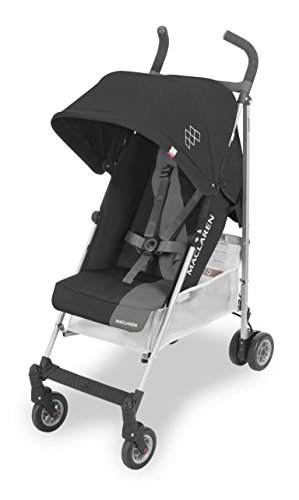 Maclaren Triumph Silla de paseo, ligera, de los 6 meses hasta los 25 kg, asiento multiposición, suspensión en las 4 ruedas, capota extensible con UPF 50+