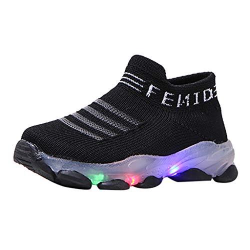 FELZ Zapatos Bebe Bautizo con Suela Zapatillas Niño Luces Zapatos de Bebe Niñas LED Luz Fashion Sneakers Luminous Child Casual Zapatillas Unisex Invierno Niño Botas Niño