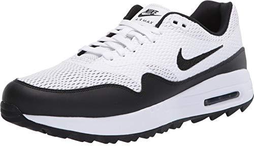 Nike Air MAX 1 G, Golf Shoe Hombre, Blanco/Negro, 42.5 EU