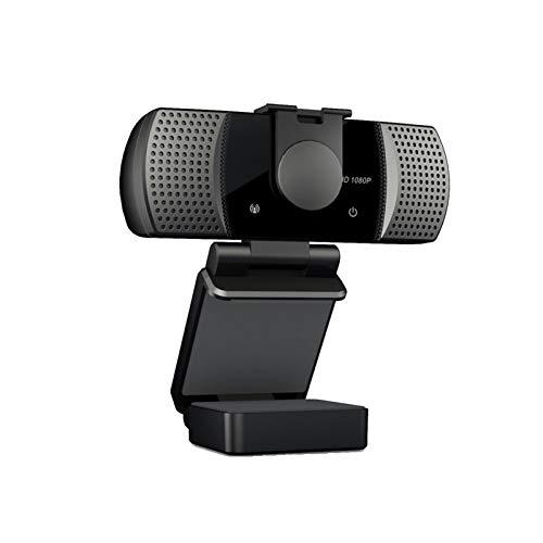 HXCH 2021 HD 1080P Webcam con cubierta de privacidad y soporte, instalación sin unidad, Plug and Play, para PC de escritorio y portátil, videollamadas, conferencias