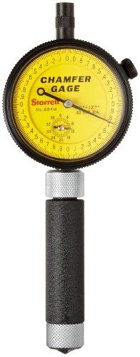 Starrett 684M-1Z Millimeter Reading Internal Chamfer Gauge With Yellow Dial, 90-127 Degree Angle, 0-9.5mm Range