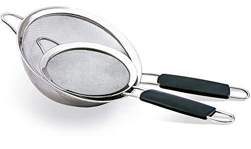 Angoter Acero Inoxidable Nuevo colador de Malla Fina Tamiz Tamiz Tamiz de la Cocina Vegetal