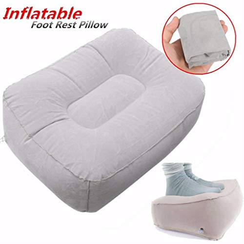 Yongse Opblaasbare draagbare stoel Outdooors Pluche Pneumatische voetsteun Sofa Kruk Kussen Home Decor