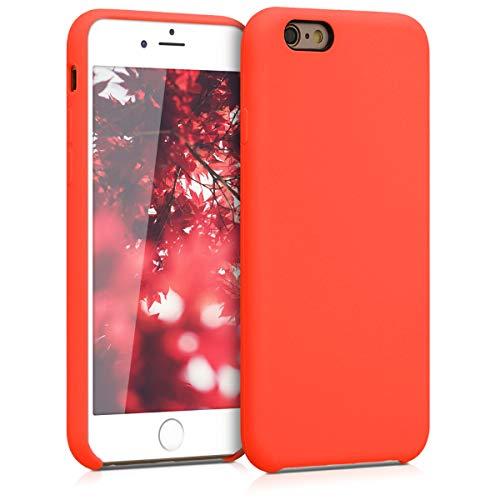 kwmobile Funda para Apple iPhone 6 / 6S   Carcasa de TPU para teléfono móvil   Cover Trasero en Rojo Tomate