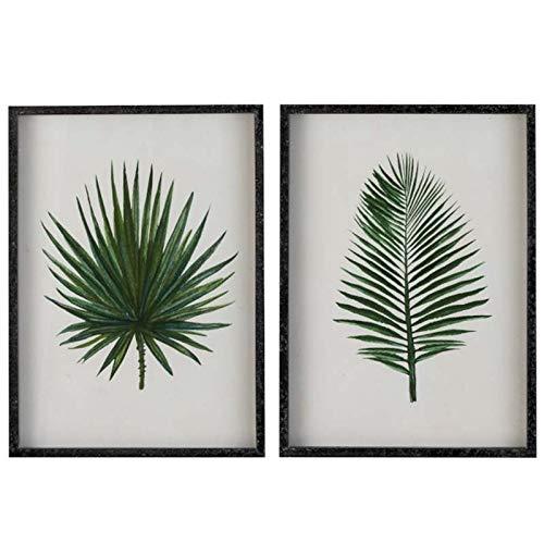 Jolipa - Set di cornici a foglie, 55 x 40 x 03 cm
