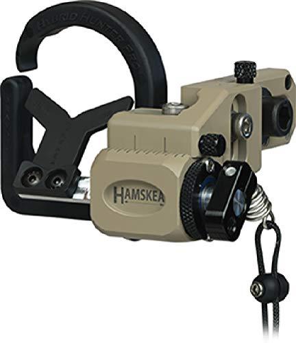Hamskea 210777 Universal Target Shooting Bowhunter Recurve Compound Hybrid Hunter Pro Micro Tune Arrow Rest, Right Handed, Tan