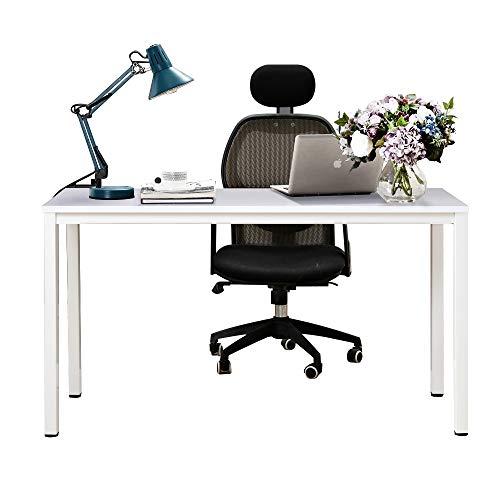 Need 138x55cm Escritorios Mesa de Ordenador Escritorio de Oficina Mesa de Estudio Puesto de Trabajo Mesa de Conferencias Talla Grande, Blanco,AC3DW-140-NEW