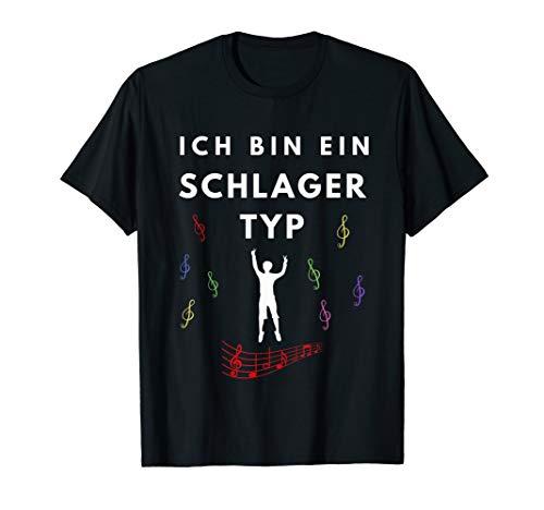 Herren Schlagertyp   Schlager Schlagermusik Schlagerparty Geschenk T-Shirt