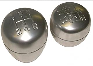 LAND ROVER DEFENDER REPLACEMENT MAIN GEAR & TRANSFER GEAR LEVER KNOB SET FOR R380 PART: DA5500