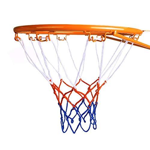 YINGZI Mini 32 cm / 12.6 Pulgadas Montado en la Pared Cuello de Baloncesto Anillo de aro de asador Net Rim Dunk Disparo para Exteriores al Aire Libre Accesorios incluidos (Color : A)