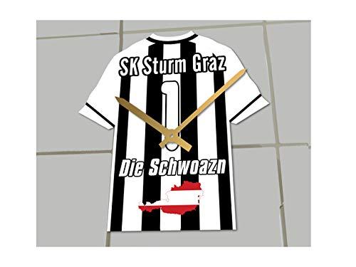 bawag Fußball Bundesliga Teams–Fußball Shirt Uhr–Jeder Name, beliebige, jedes Team, SK Sturm Graz