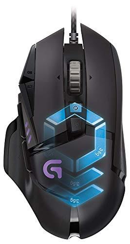 Logitech G502–Mouse, USB, 12000DPI, USB 12000dpi Black 121g, Black)