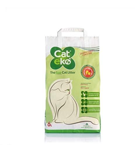 Catekò - Lettiera vegetale per gatti smaltibile nel WC 100% biodegradabile 5 L