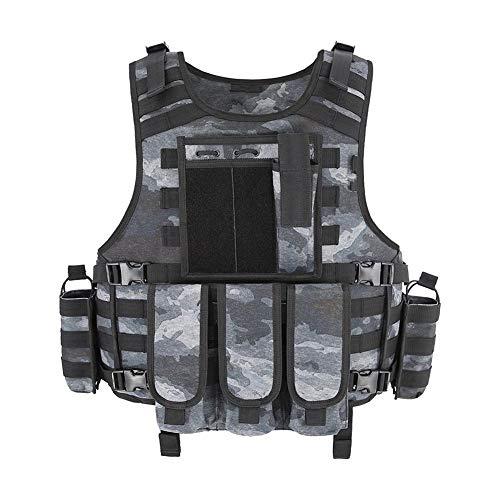 ZZYLHS Weste Taktische Weste Plattenträger Angeln Jagd Weste Militär Armee Rüstung Weste (Color : R Black, Size : One Size)