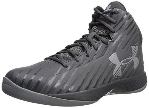 Under Armour Men's Jet Mid Basketball Shoe, Black/Steel/White, Medium